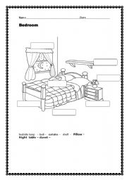 15 Best Images Of Bedroom Vocabulary Worksheets