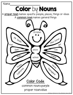 14 Best Images of First Grade Common Nouns Worksheets