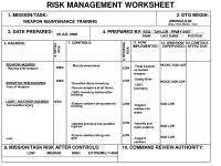 16 Best Images of Risk Management Plan Worksheet - Army ...