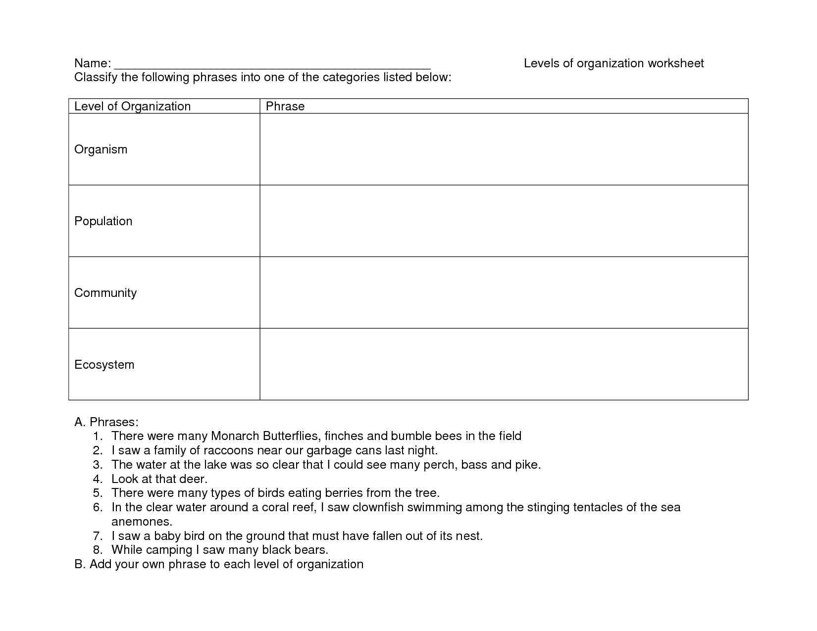 9 Best Images Of Ecosystem Organization Pyramid Worksheet
