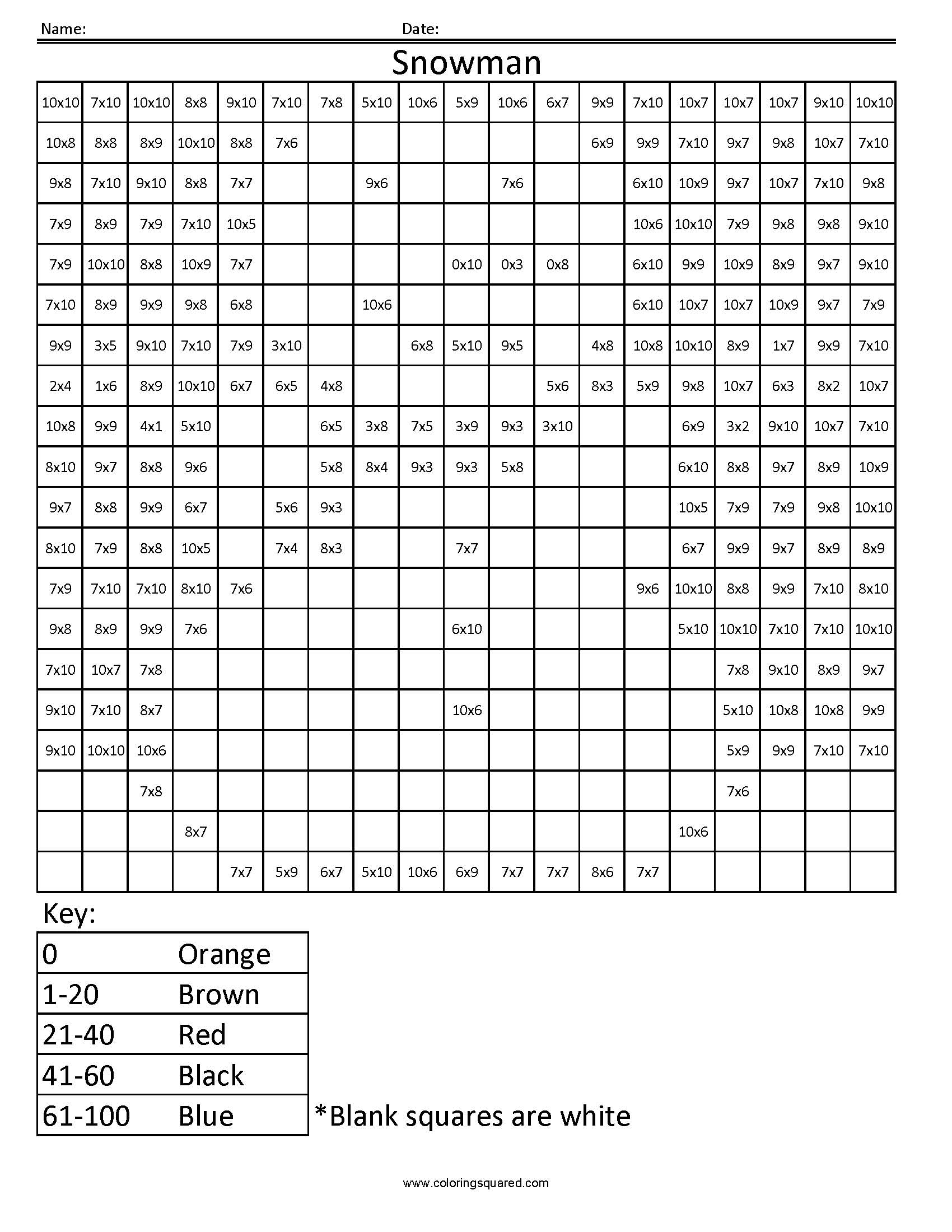 13 Best Images Of Holiday Multiplication Worksheets