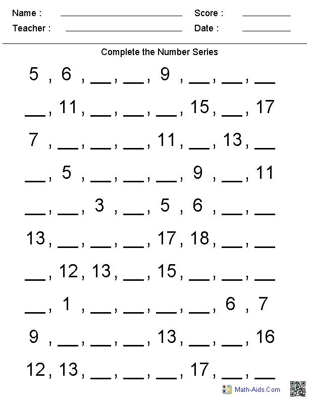 11 Best Images of Fourth Grade Number Patterns Worksheets
