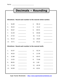 9 Best Images of Whole Numbers And Decimals Worksheets ...