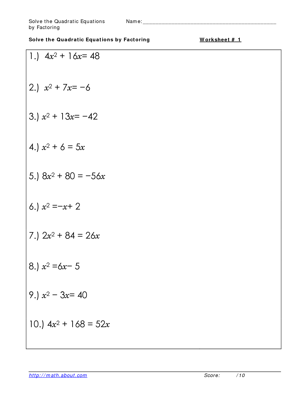 17 Best Images Of Solving Equations Worksheets Printable