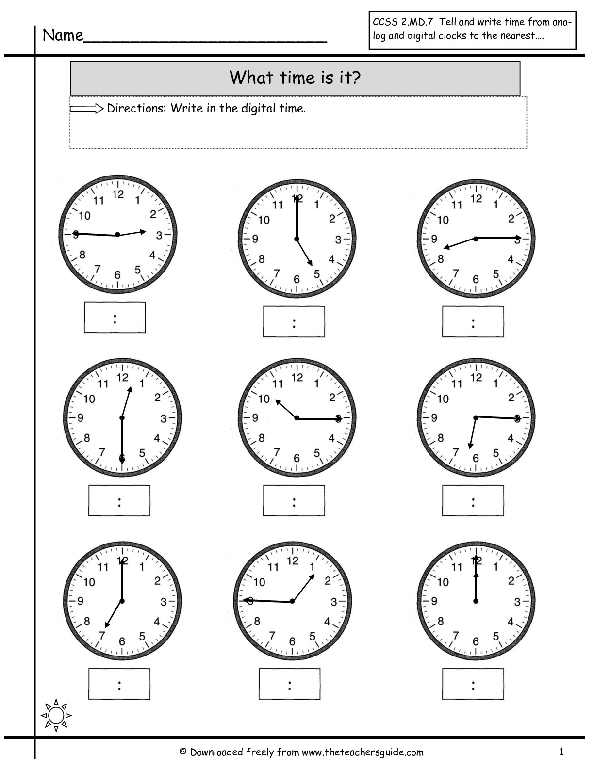 15 Best Images Of Telling Time Worksheets Half Past