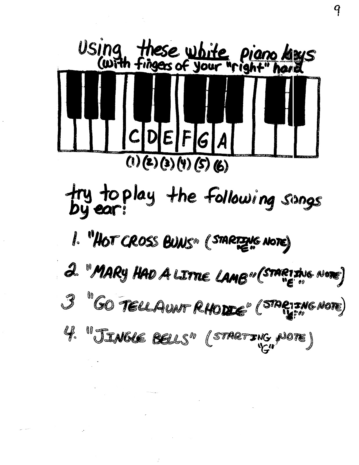 9 Best Images Of Piano Chords Worksheet