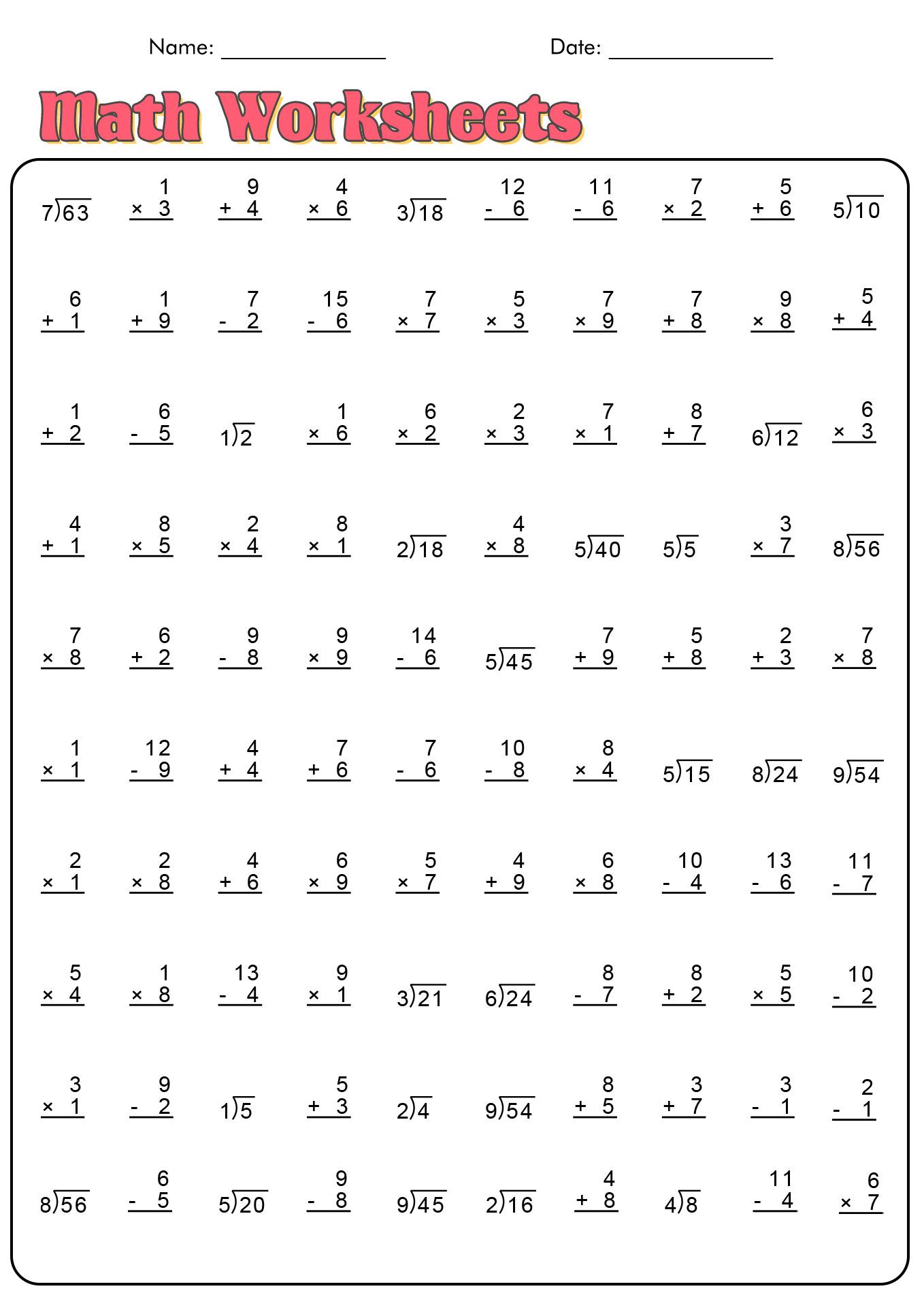 4th Gread Printable Worksheet Area And Perimeter