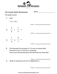 17 Best Images of 7th Grade Homework Worksheets - 7th ...