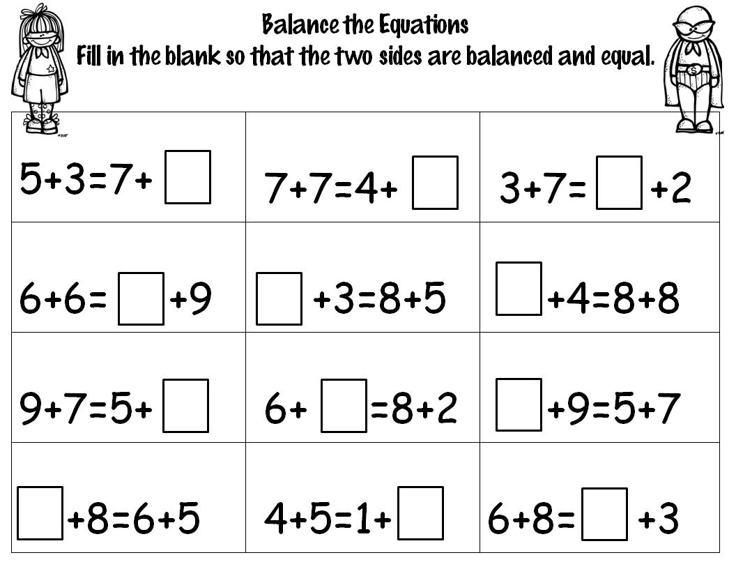 14 Best Images Of Math Balancing Equations Worksheet