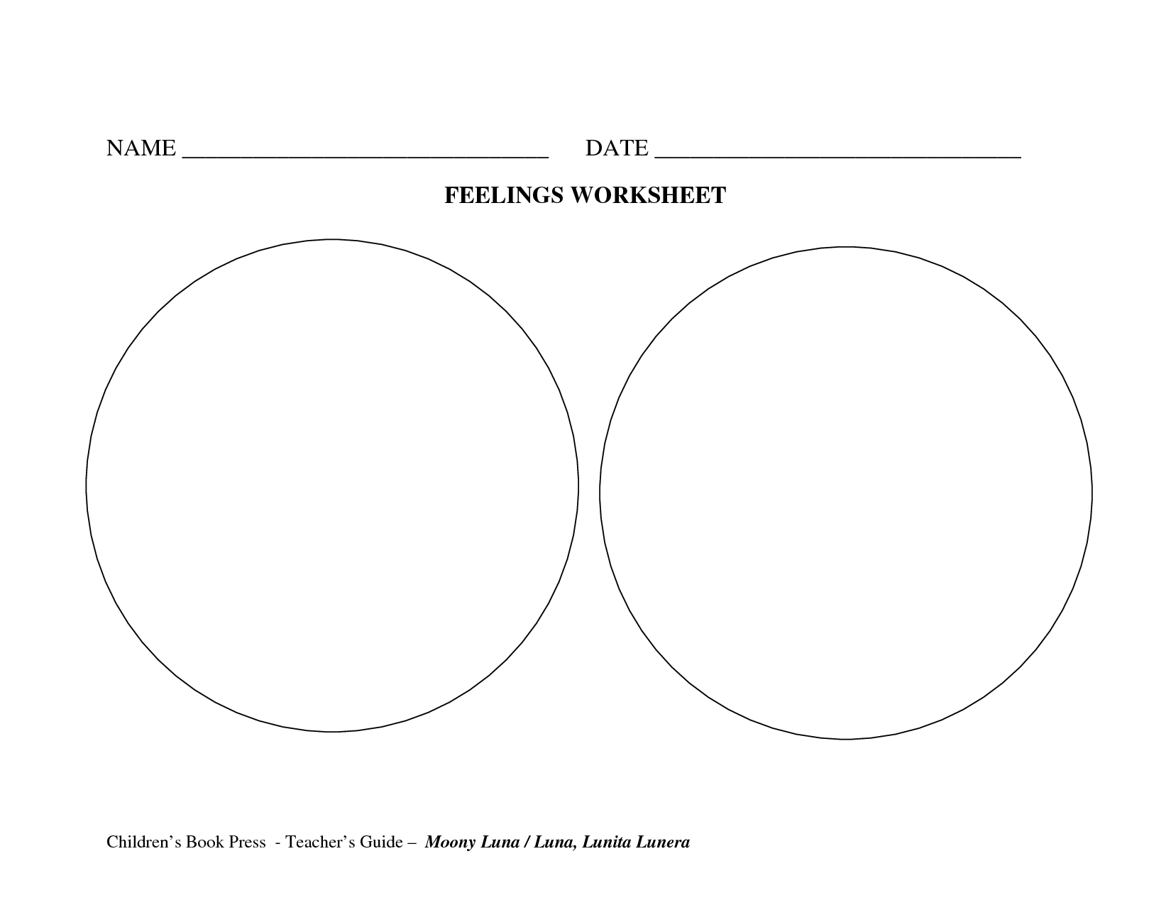 13 Best Images Of Feelings Worksheets