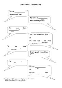 14 Best Images of ESL Introductions And Greetings ...