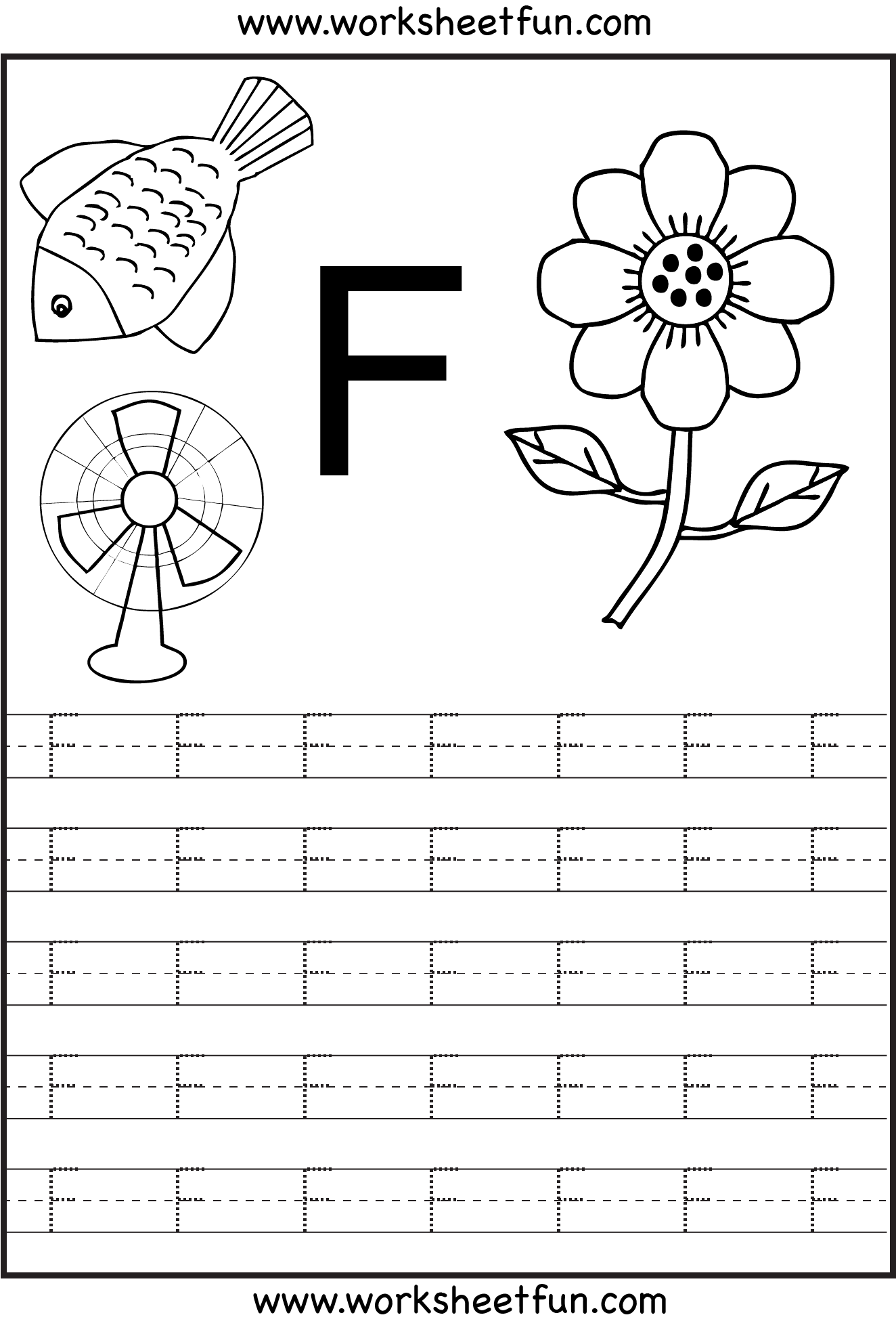 16 Best Images Of F Tracing Worksheet