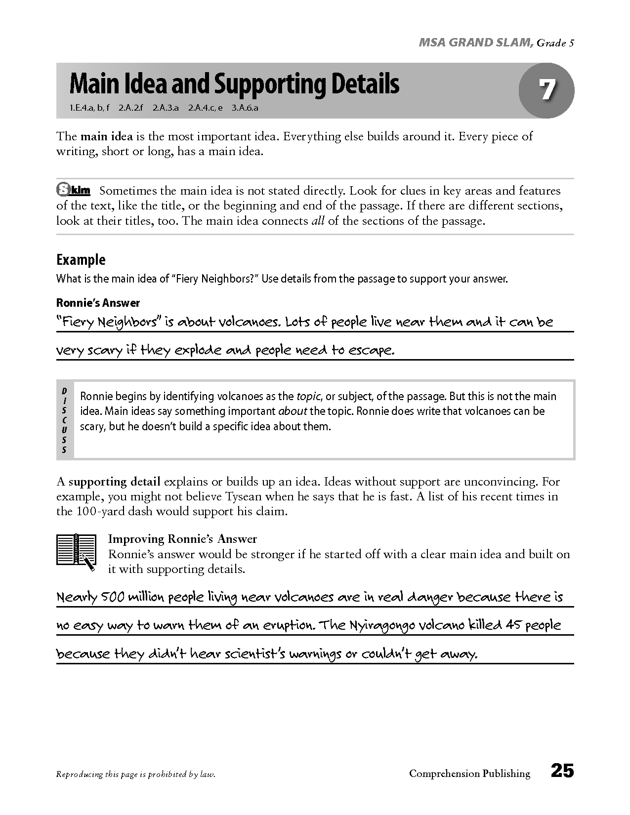 14 Best Images Of Main Idea Worksheets Grade 5