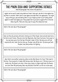 14 Best Images of Main Idea Worksheets Grade 5 - Main Idea ...