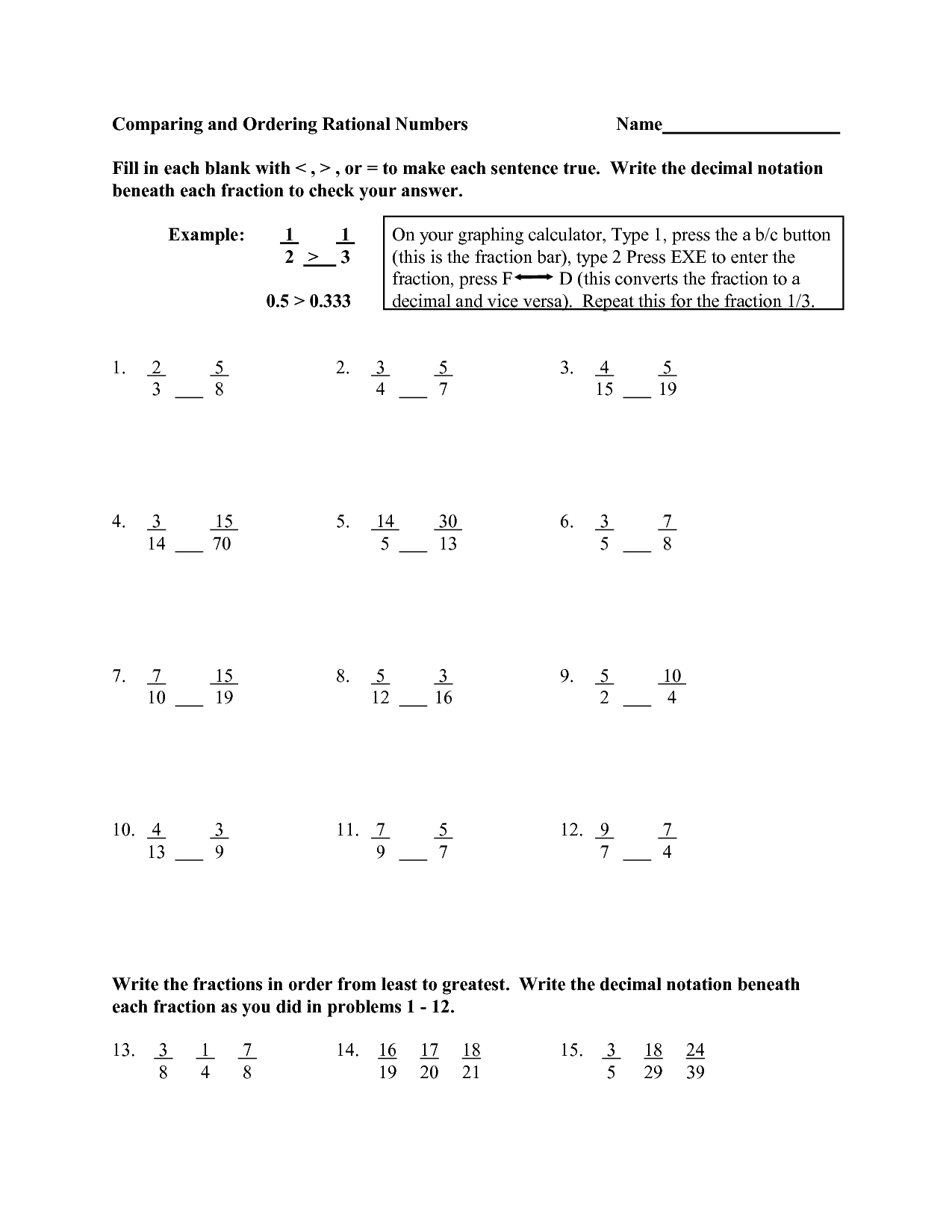 13 Best Images Of Comparing Equations Worksheets
