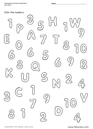 15 Best Images of Number Recognition Worksheets 1 10