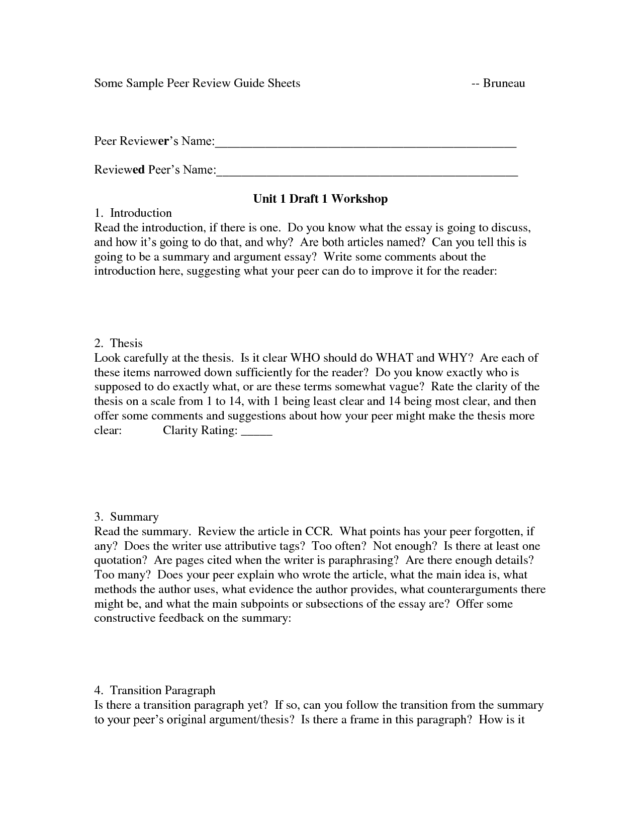 Example Of Thesis Critique