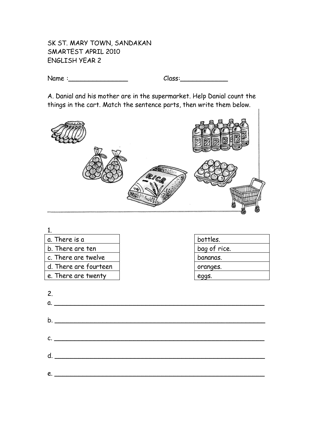 16 Best Images Of 2 Year English Test Worksheets