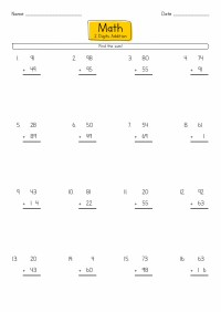 16 Best Images of Double- Digit Addition Printable ...