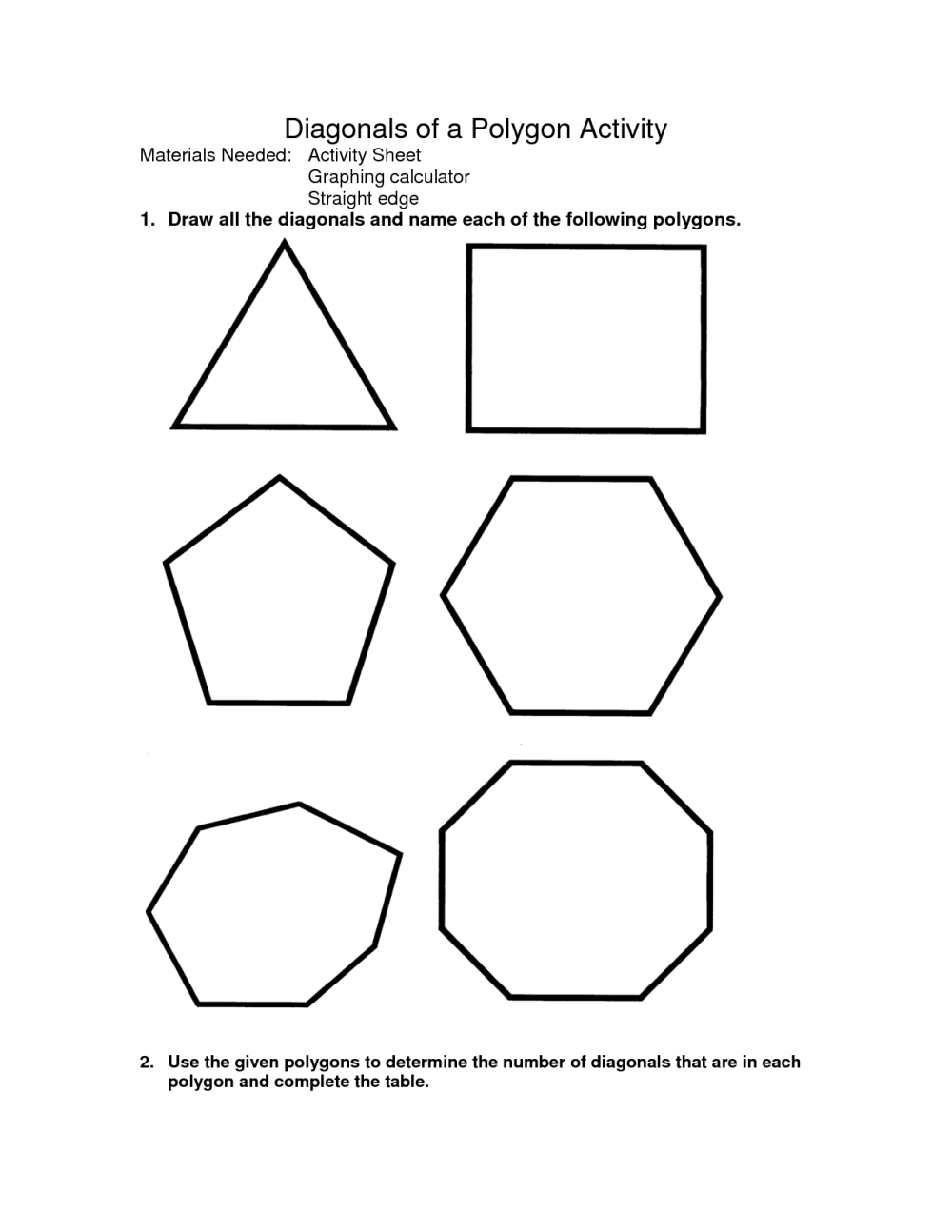 medium resolution of Identifying Polygons Worksheet   Printable Worksheets and Activities for  Teachers