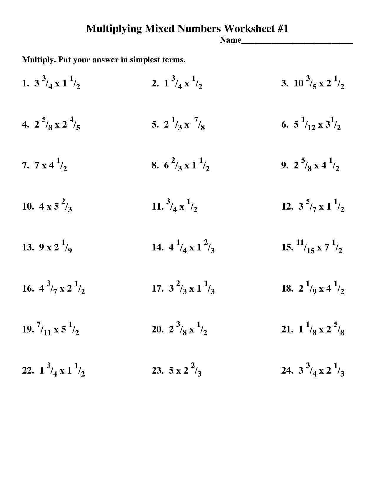 Dividing Rational Numbers Worksheet