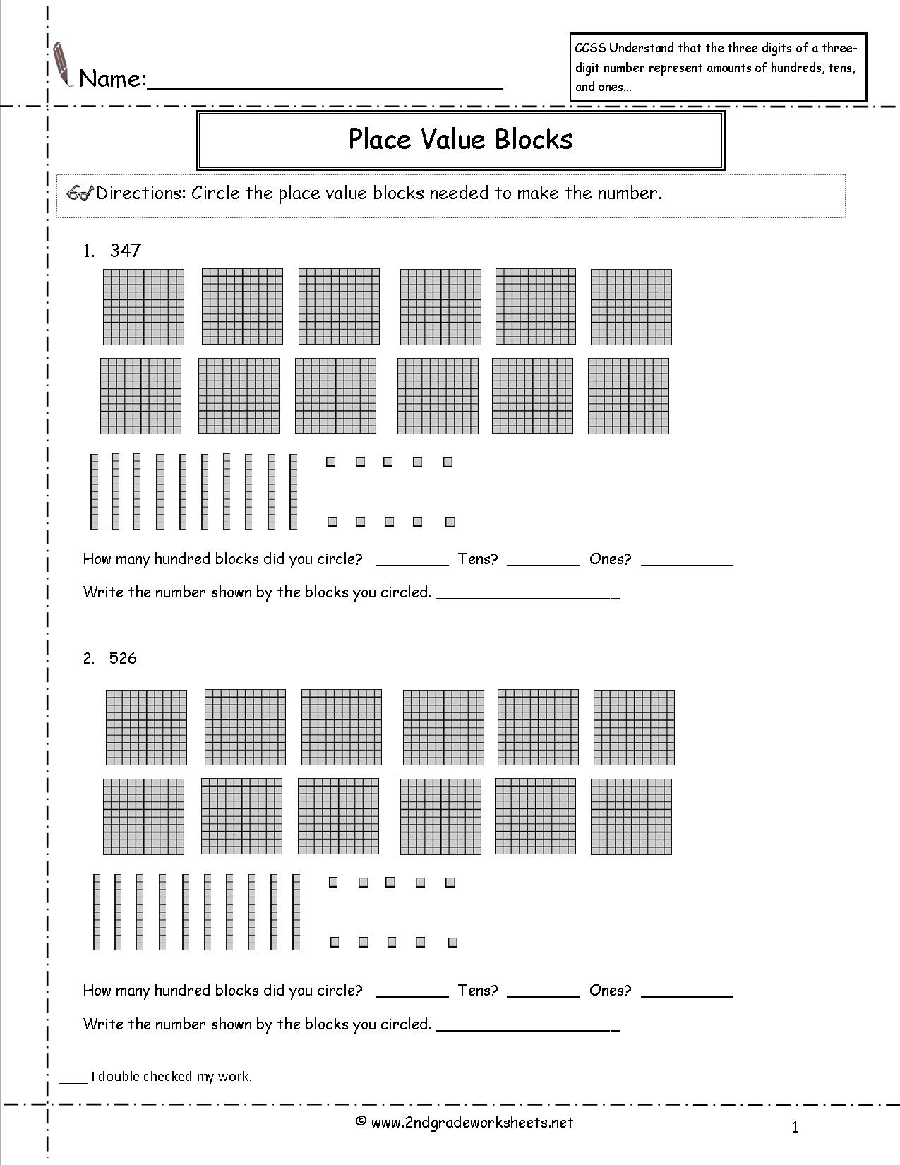 12 Best Images Of Place Value 100 Worksheets