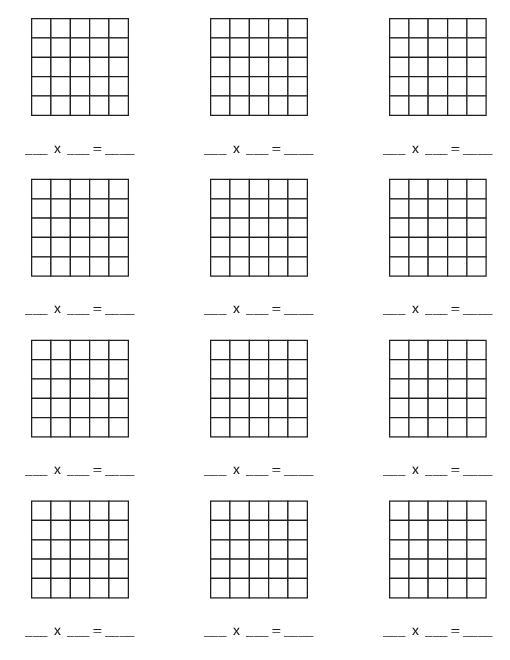 8 Best Images of Array Multiplication Worksheet