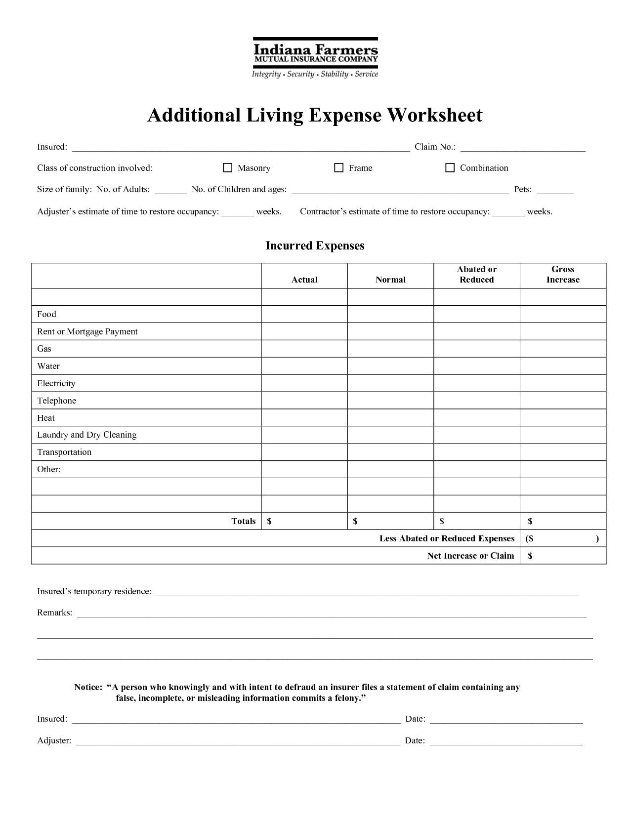 12 Best Images Of Home Expense Worksheet