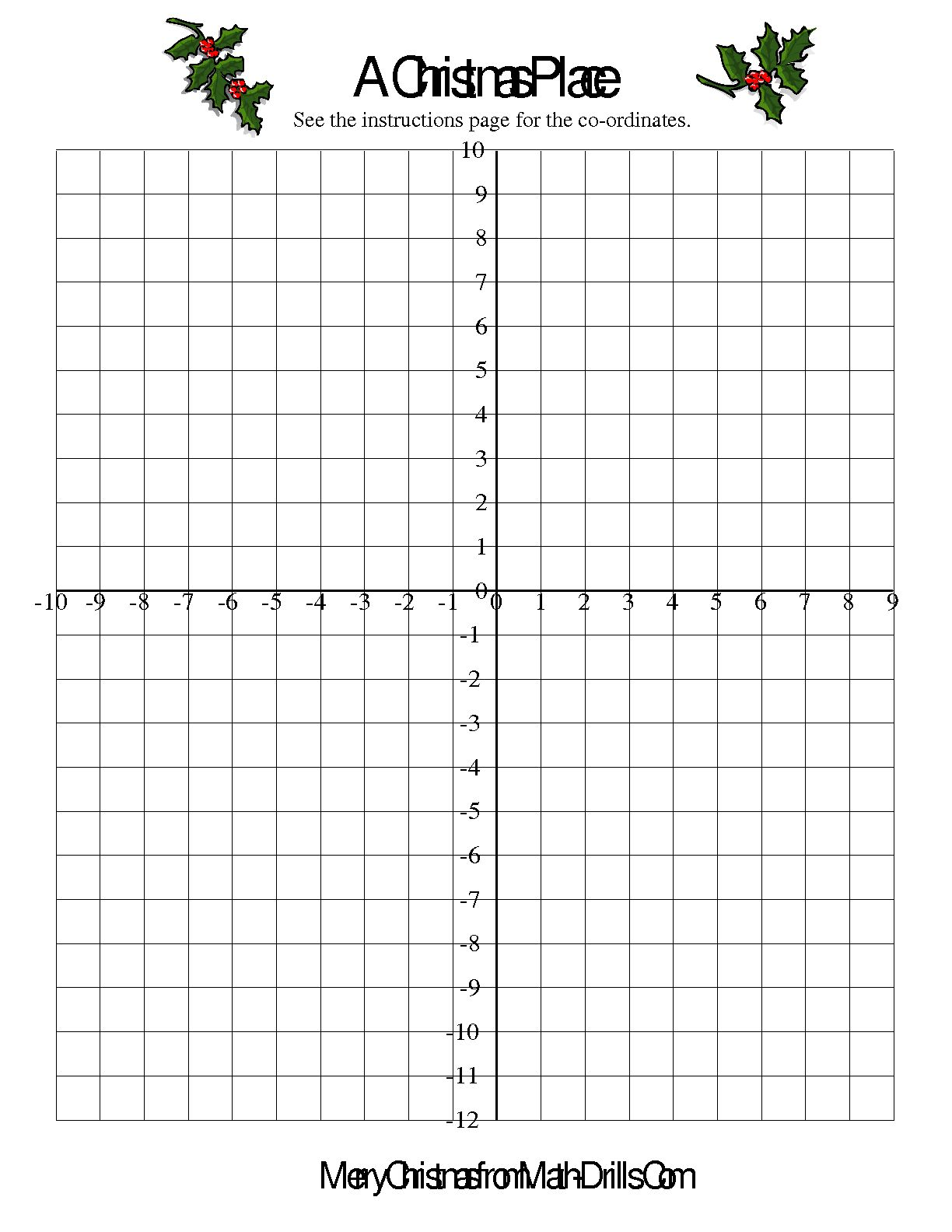 Math Worksheet Coordinate Points