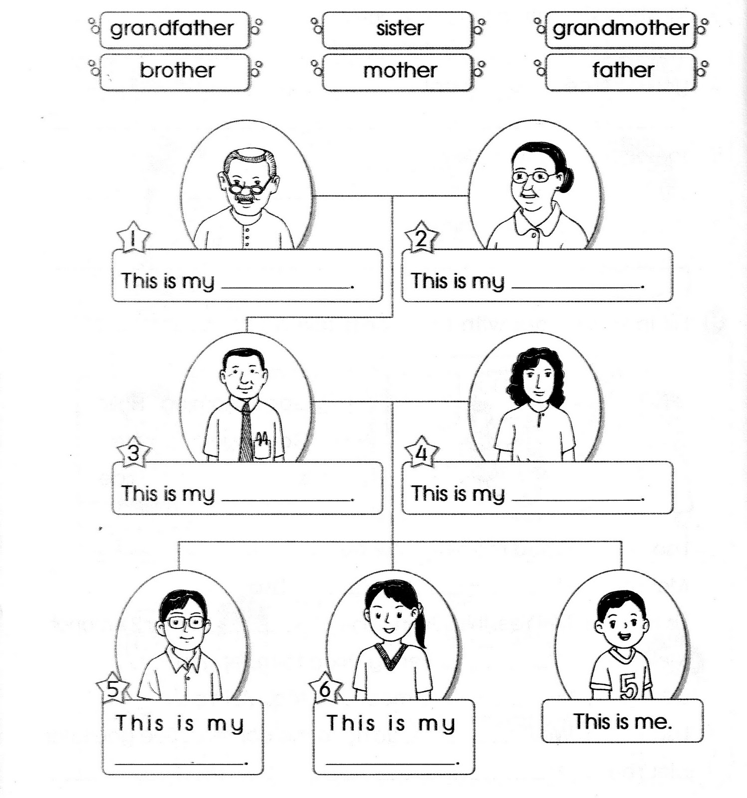 13 Best Images Of My Family Worksheet