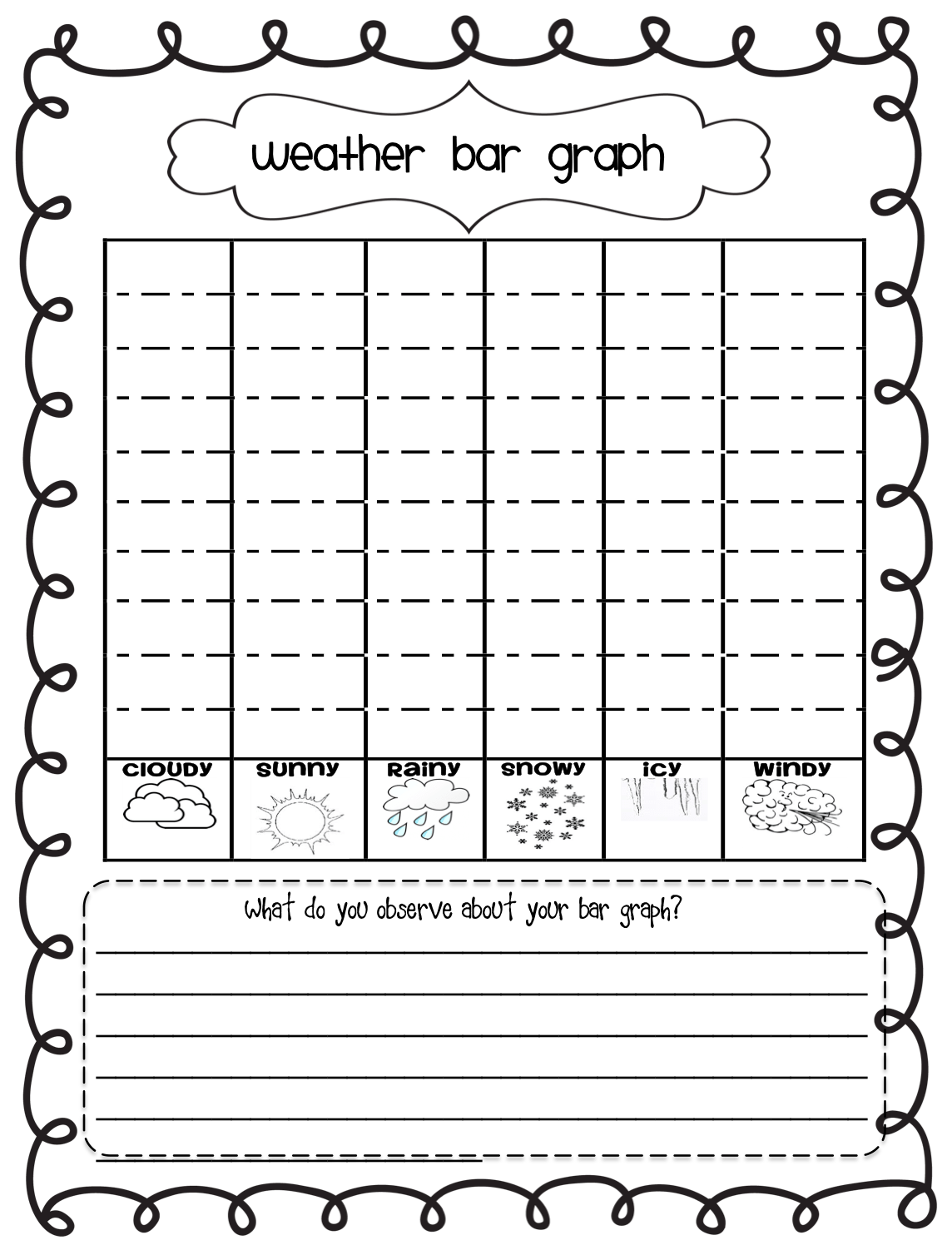 Printable Bar Graph Worksheets 2nd Grade