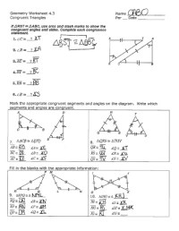 13 Best Images of Proving Triangles Congruent Worksheet ...