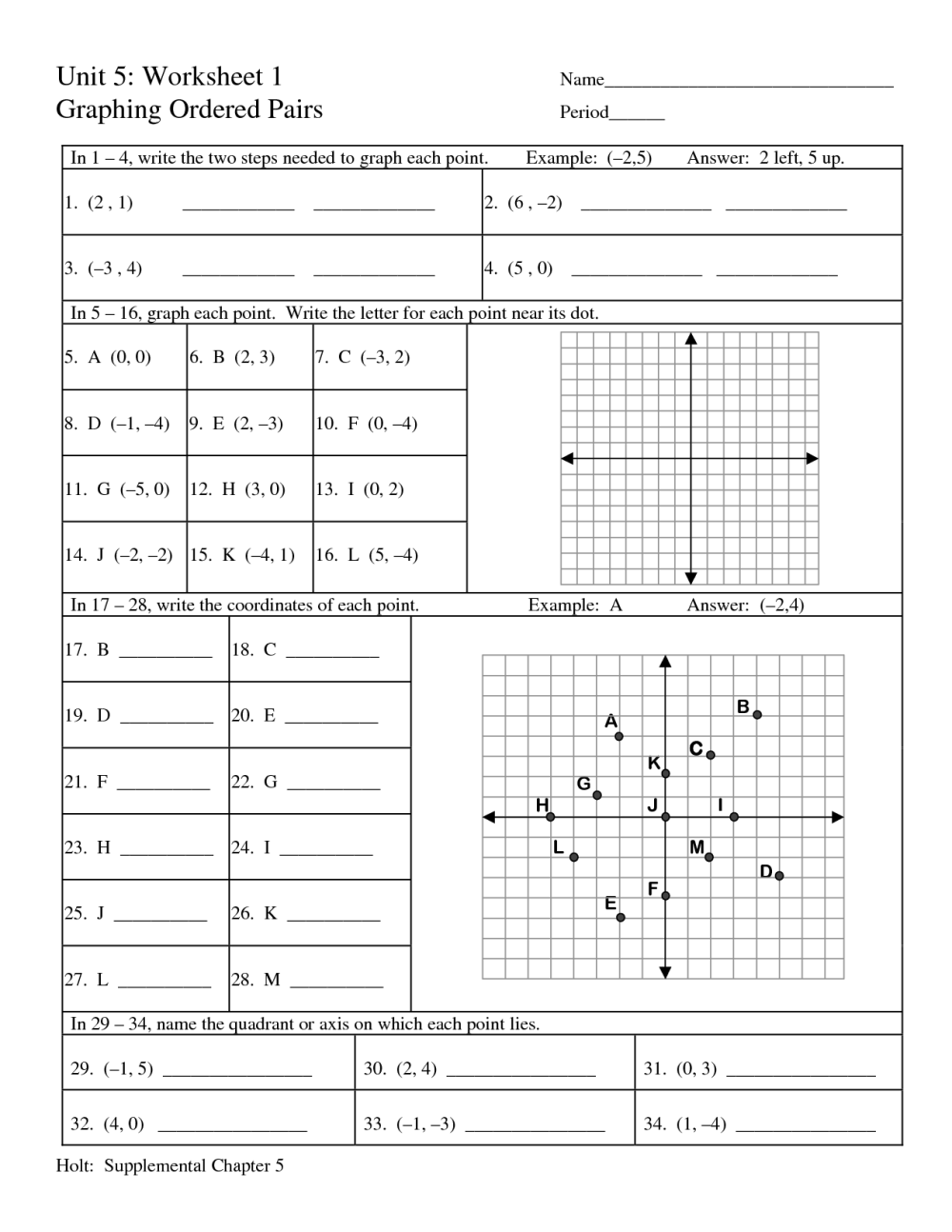 medium resolution of Coordinate Grid Math Worksheets   Printable Worksheets and Activities for  Teachers