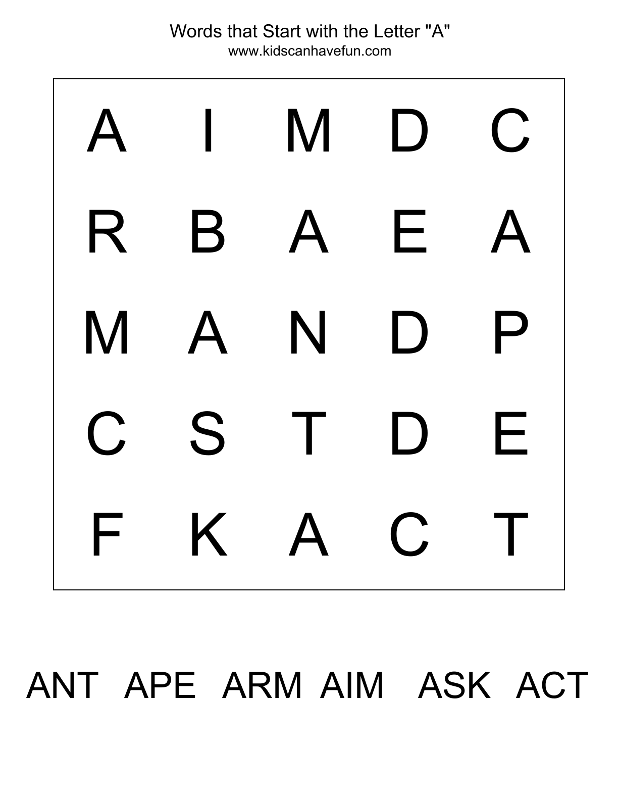 10 Best Images Of Alphabet Word Search Worksheets