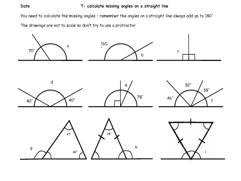 Find Missing Angle Worksheet