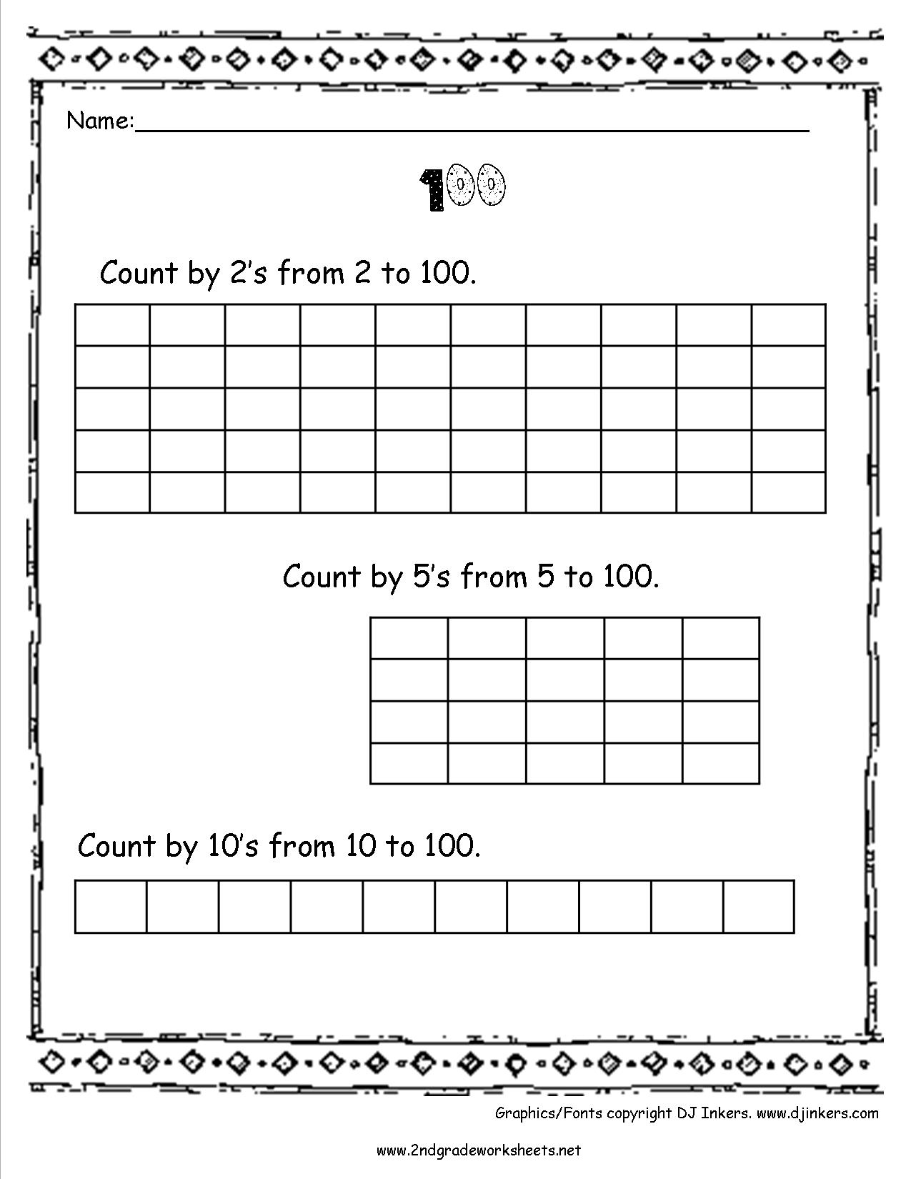 8 Best Images Of Worksheets Counting To 100