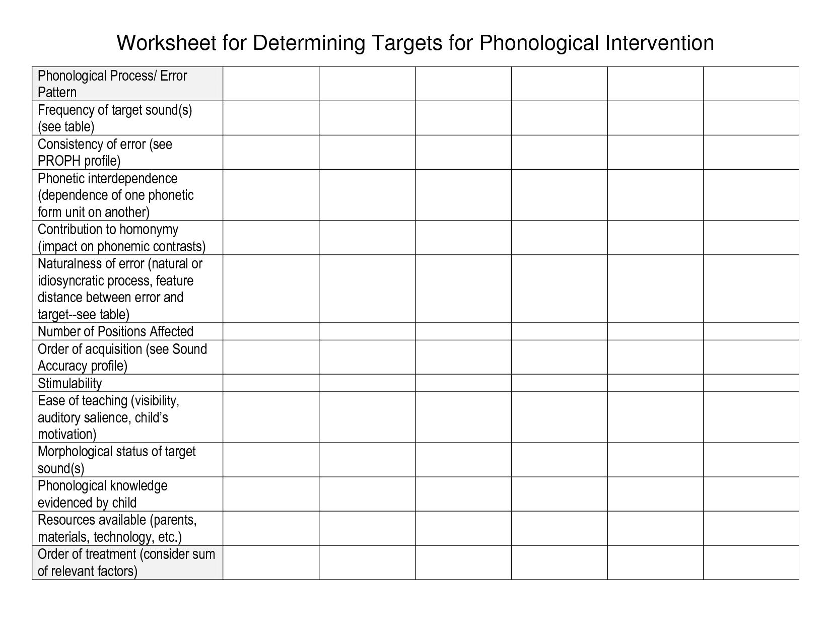 18 Best Images Of Family Goal Setting Worksheet