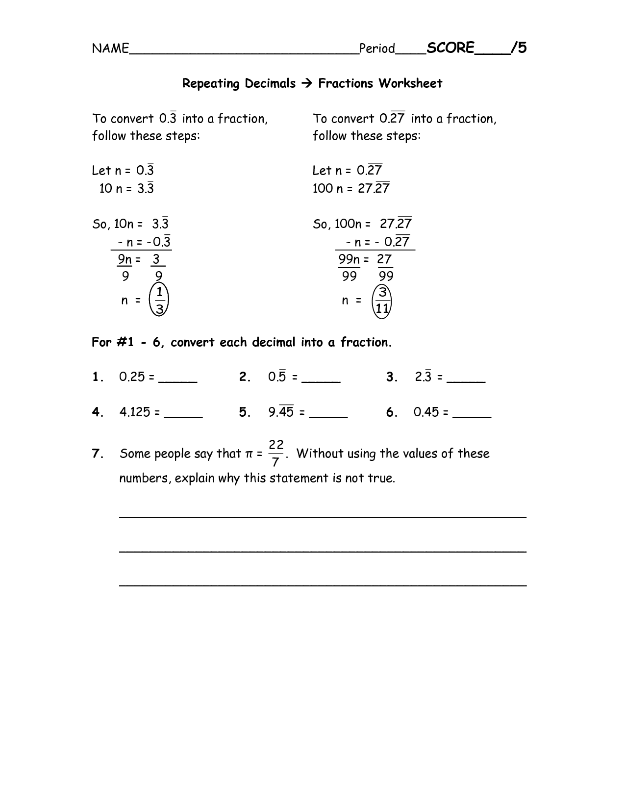 Lcm Practice Worksheet