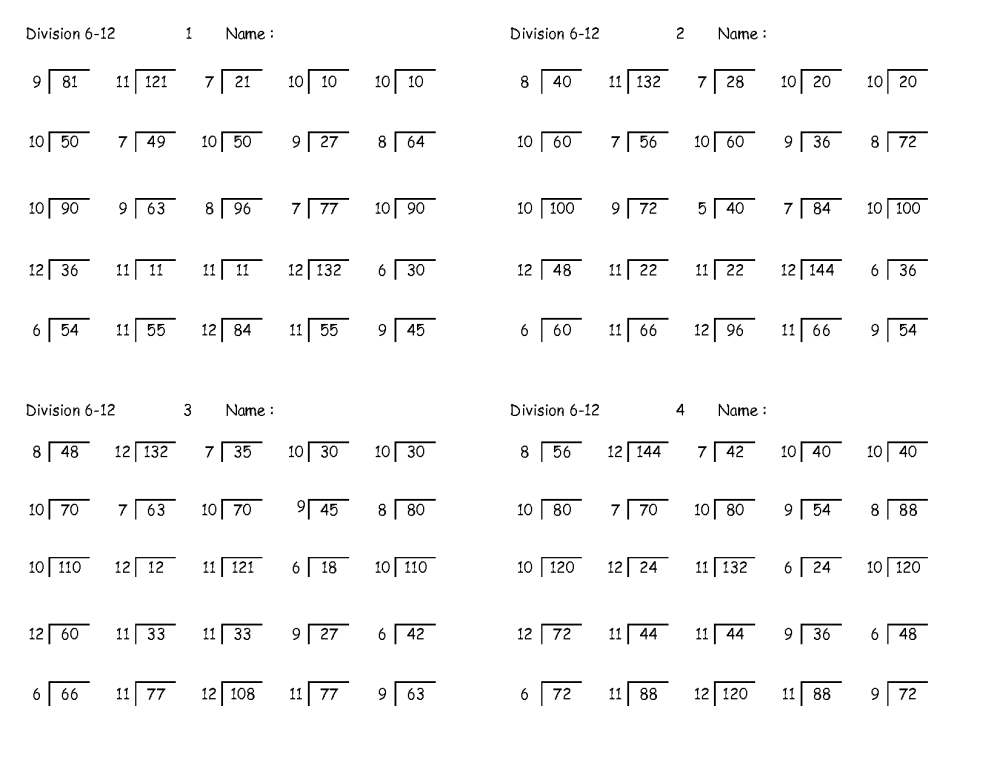 medium resolution of Printable Long Division Worksheets 4th Grade   Printable Worksheets and  Activities for Teachers
