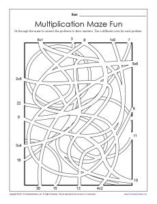 13 Best Images of 5th Grade Maze Worksheets