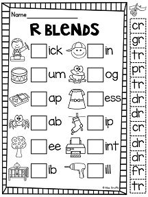 13 Best Images of Initial Blends Worksheets 1st Grade