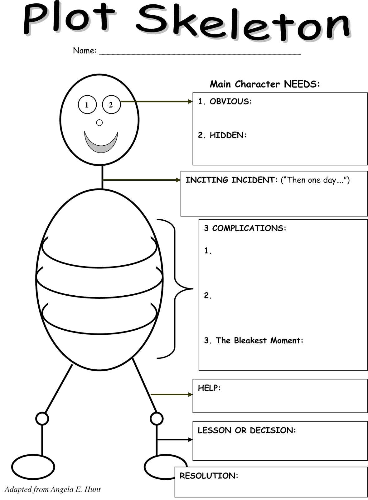 Literary Elements Worksheet Middle School
