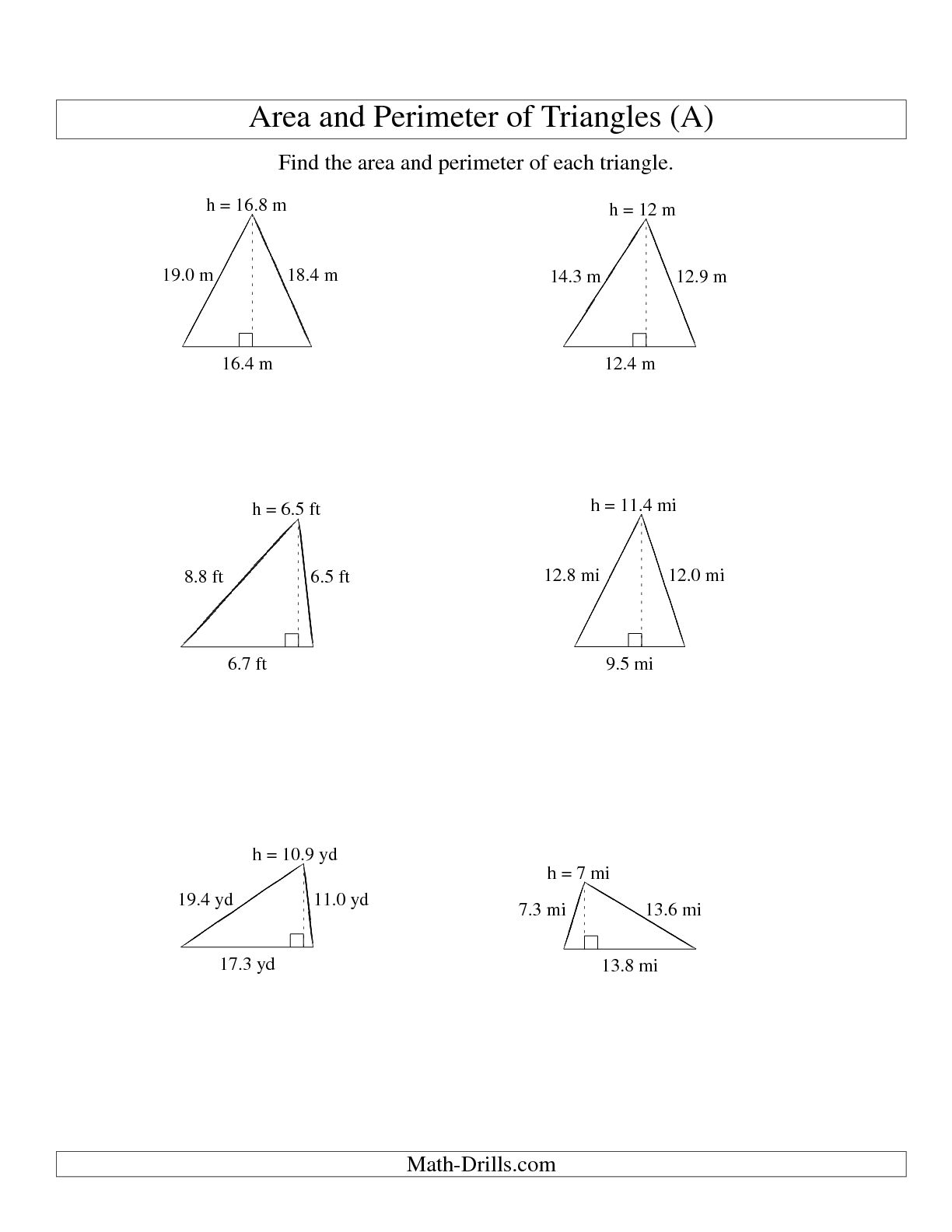 12 Best Images Of Triangle Math Worksheets