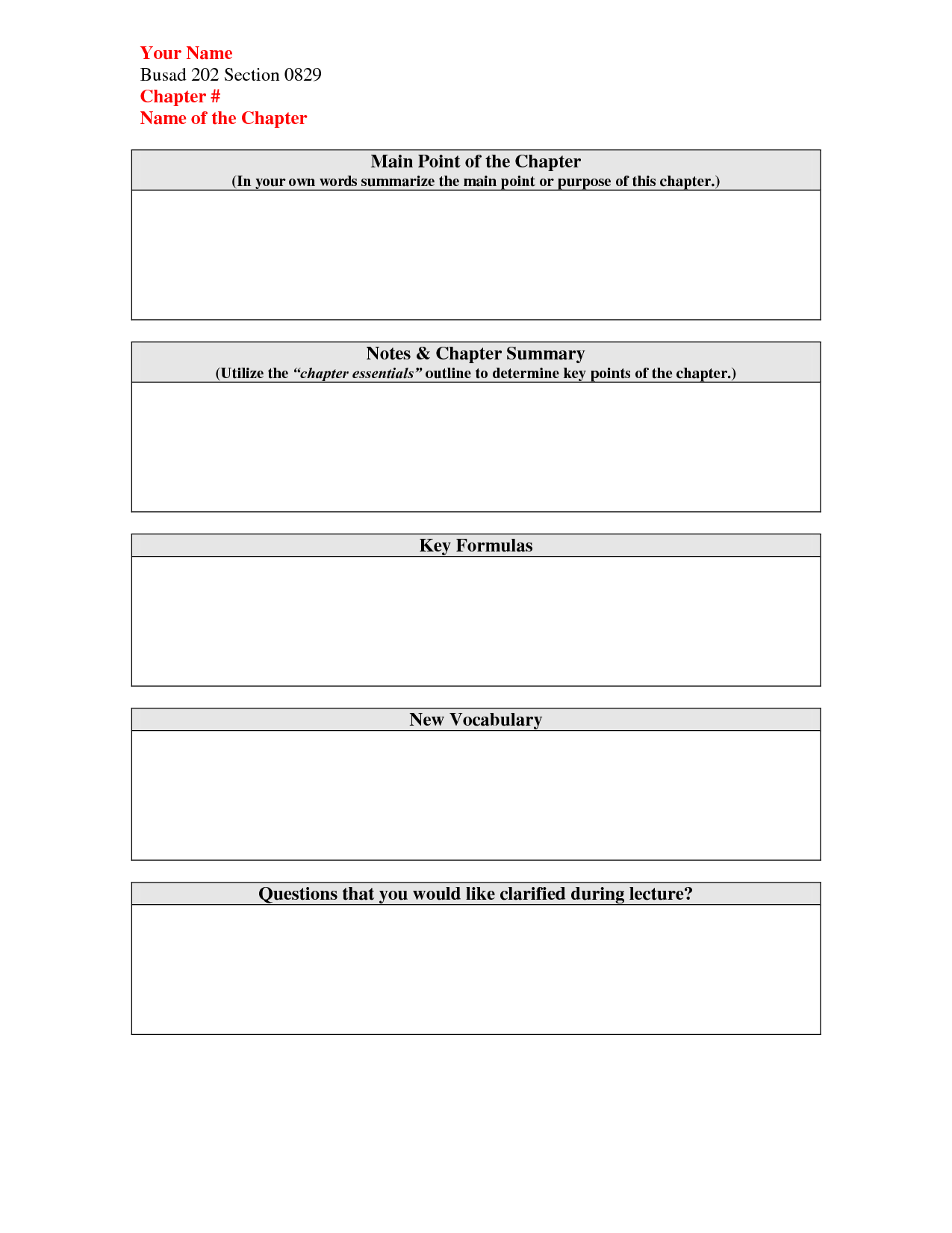 16 Best Images Of Book Chapter Summary Worksheet