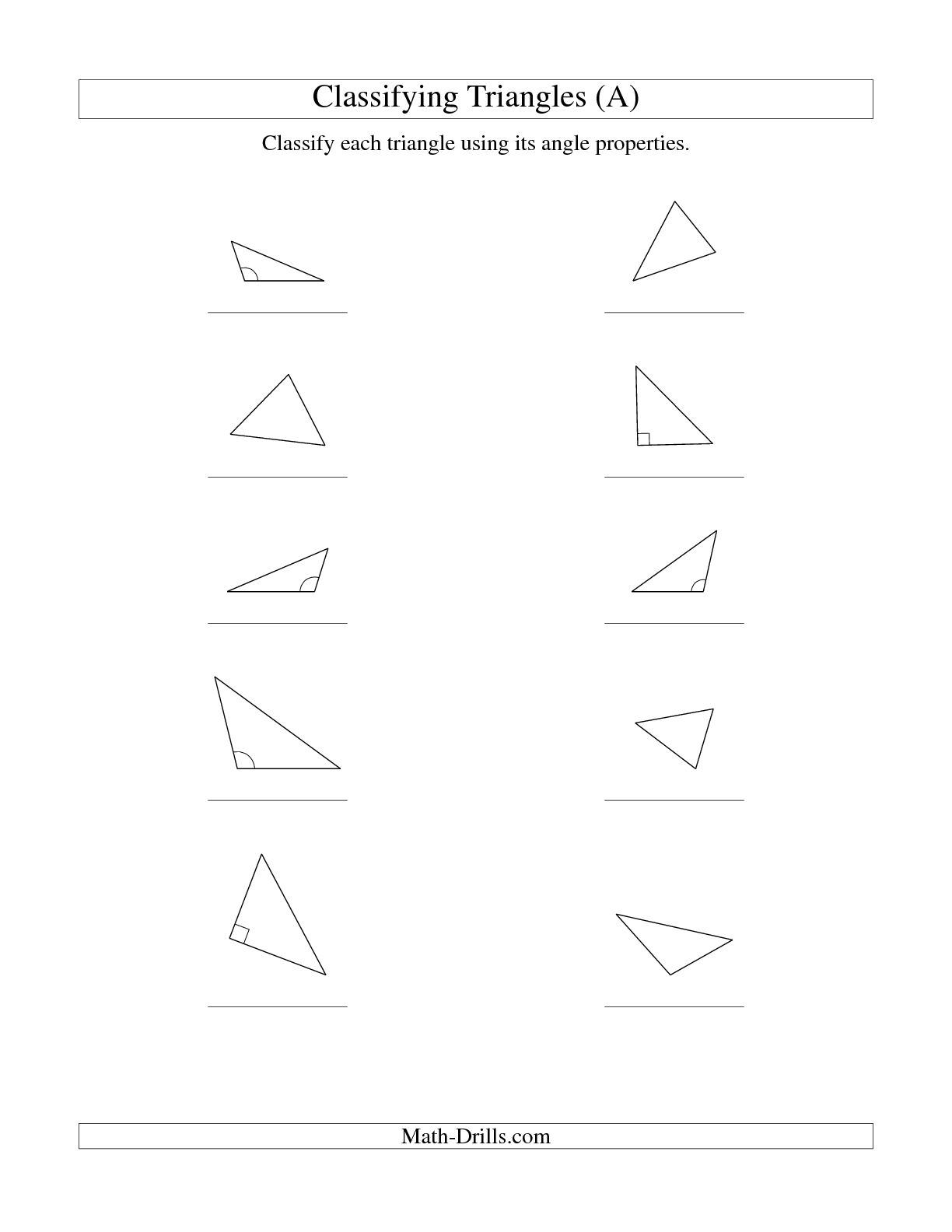 15 Best Images Of Sides And Angles 2nd Grade Worksheets