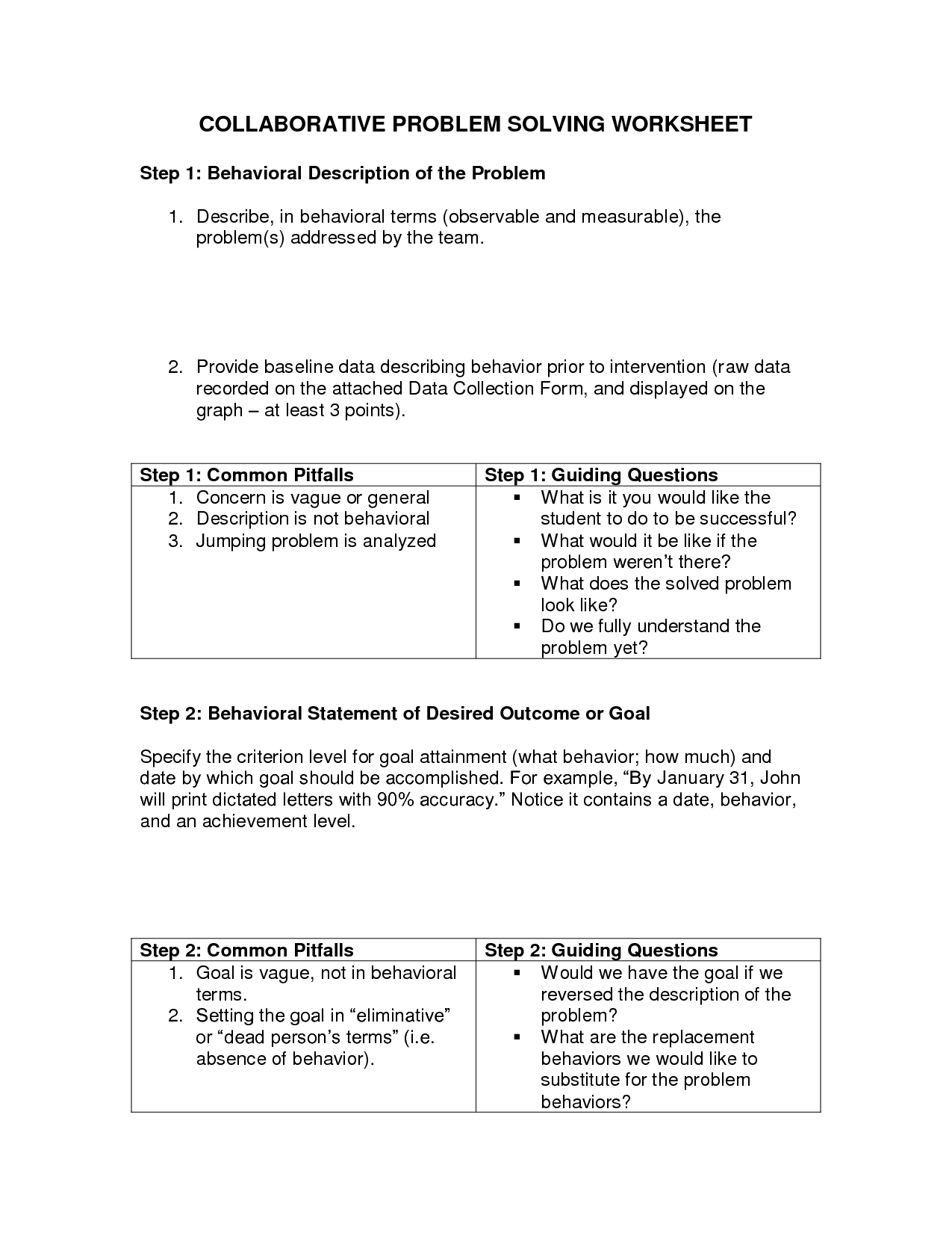 13 Best Images Of Problem Solving Worksheets