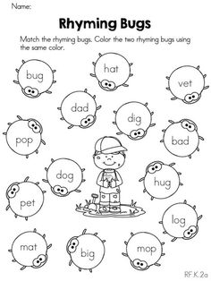 12 Best Images of Color The Rhyming Pictures Worksheet