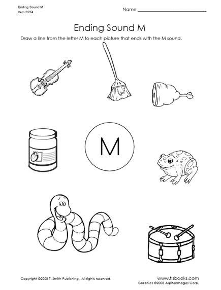10 Best Images of Ending Sound Worksheets For Kindergarten