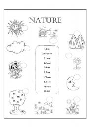 13 Best Images of Nature Worksheets For Kindergarten