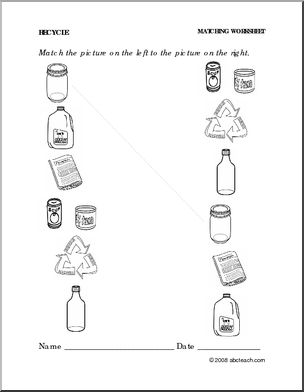 7 Best Images of Recycle Preschool Categories Worksheets